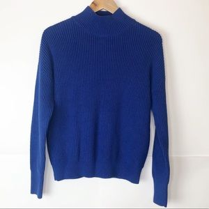 NWT Magaschoni Blue Moon Mock Neck Knit Pullover